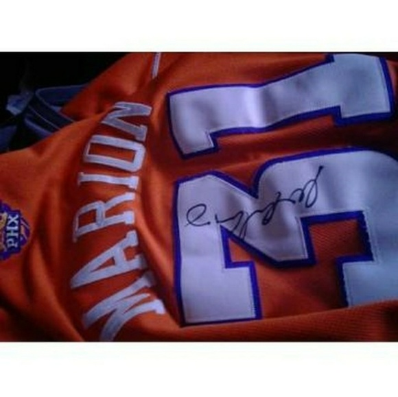 Reebok Other Shawn Marion Autographed Suns Jersey Size
